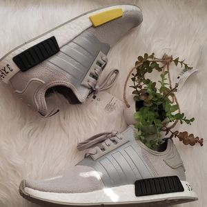 Adidas NMD-R1 Metal Gray Japan Heel Sneakers